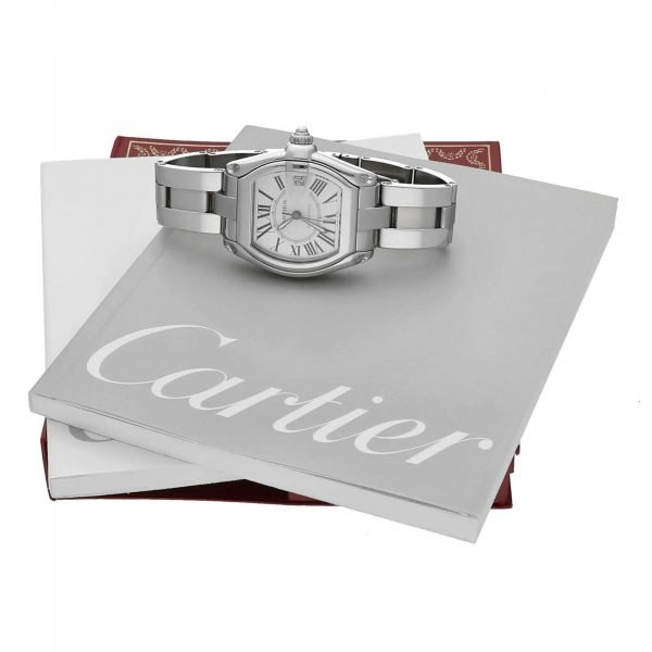 Cartier Roadster 2510 Silver Dial Large Stainless Steel Automatic Mens Watch 124458510472 8