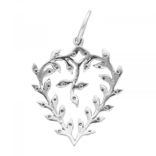 Cathy Waterman Platinum 900 PT Heart Diamond Pendant 114549186412 3