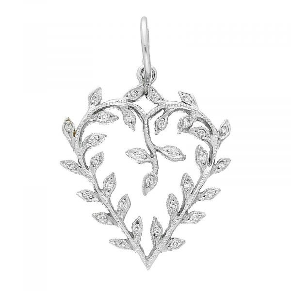 Cathy Waterman Platinum 900 PT Heart Diamond Pendant 114549186412