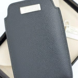 Chopard 95012 0107 Phone Case Black Leather Business Card Holder Made in Italy 113694088582