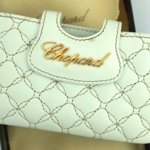 Chopard 95015 0117 Imperial Smartphone Case White Leather Business Card Holder 123702017992