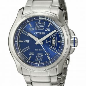 Citizen Eco Drive AW1350 83M Blue Dial Stainless Steel Solar Mens Watch 131765060612