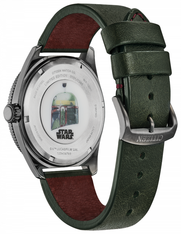 Citizen Eco Drive AW1597 05W Boba Fett Limited Edition Leather Solar Mens Watch 133570298332 2
