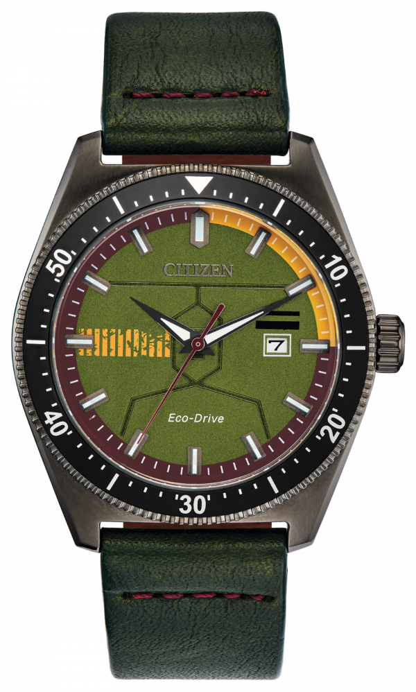 Citizen Eco Drive AW1597 05W Boba Fett Limited Edition Leather Solar Mens Watch 133570298332