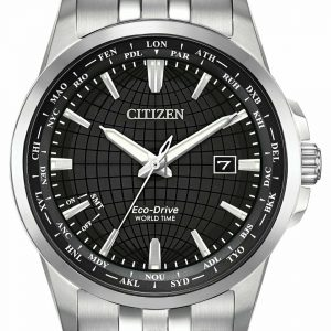 Citizen Eco Drive BX1000 57E World Time Stainless Steel 41mm Solar Mens Watch 133570194462