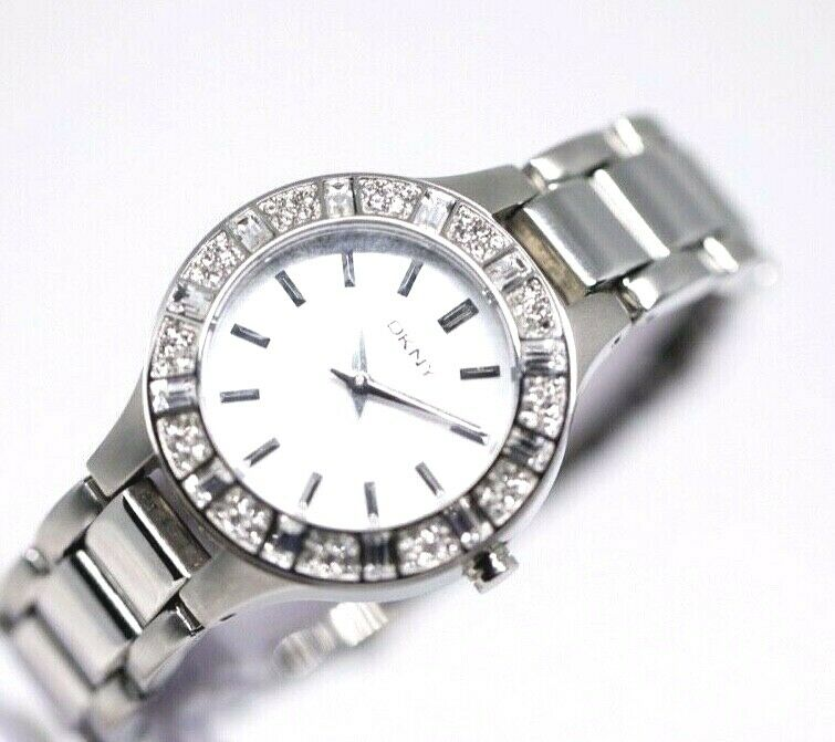 DKNY NY 8485 MOP Dial Stainless Steel 30mm Crystal Accent Quartz Womens Watch 123717640412 2