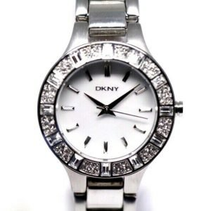 DKNY NY 8485 MOP Dial Stainless Steel 30mm Crystal Accent Quartz Womens Watch 123717640412