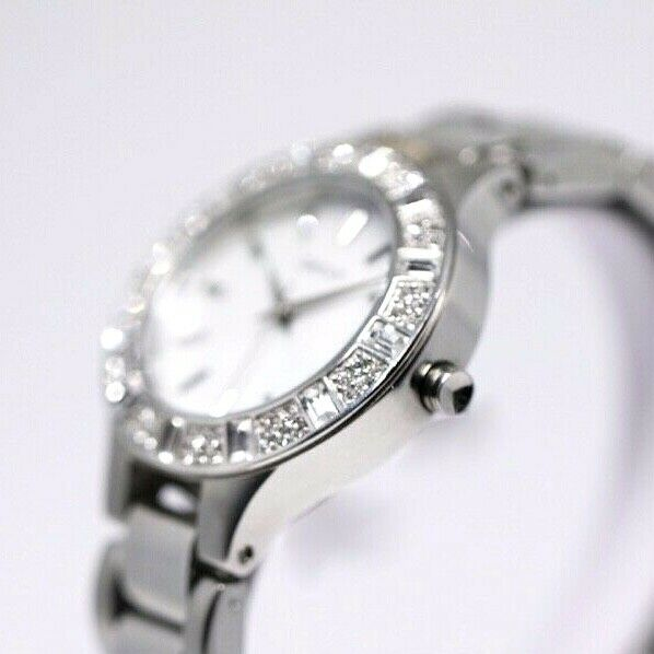 DKNY NY 8485 MOP Dial Stainless Steel 30mm Crystal Accent Quartz Womens Watch 123717640412 4
