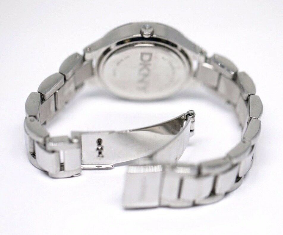 DKNY NY 8485 MOP Dial Stainless Steel 30mm Crystal Accent Quartz Womens Watch 123717640412 6