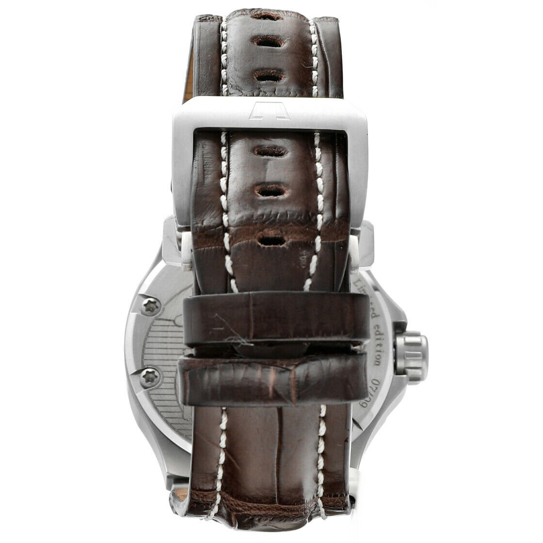 Dino Zei Nautilo Limited Edition 11007 Steel Leather Automatic Mens Watch 124232242502 5