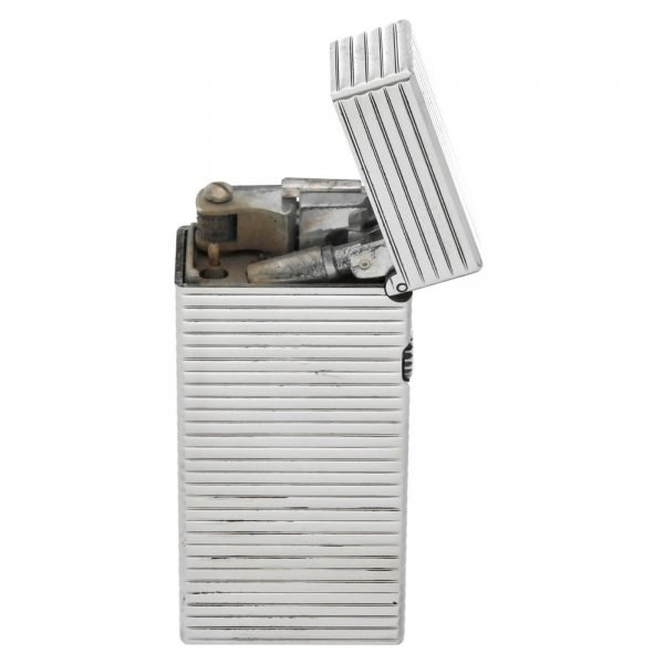 Dunhill Rhodium Plated Stripped 93 x 2 Mens Lighter Gift England 133578405582 2