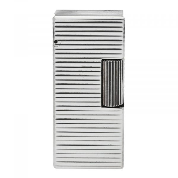 Dunhill Rhodium Plated Stripped 93 x 2 Mens Lighter Gift England 133578405582 3