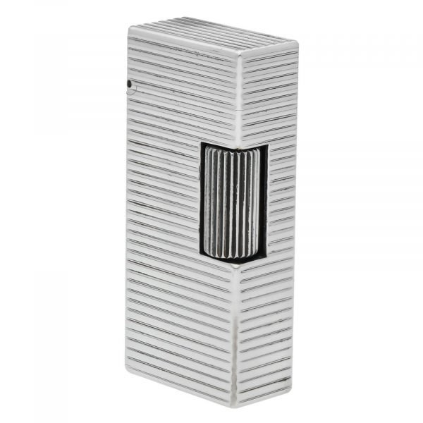Dunhill Rhodium Plated Stripped 93 x 2 Mens Lighter Gift England 133578405582 4