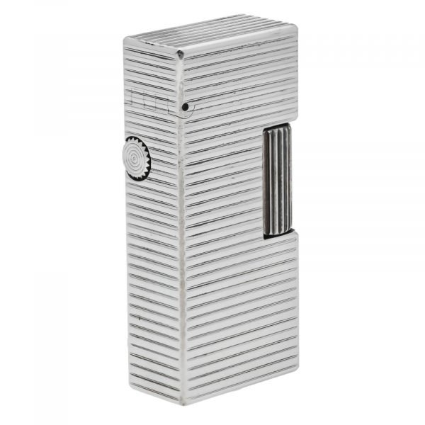 Dunhill Rhodium Plated Stripped 93 x 2 Mens Lighter Gift England 133578405582 5