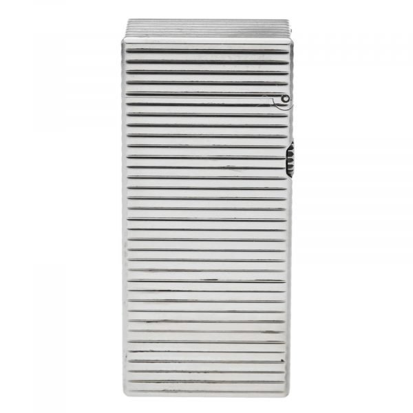 Dunhill Rhodium Plated Stripped 93 x 2 Mens Lighter Gift England 133578405582 6