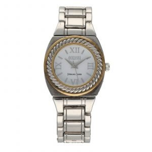 Ecclissi 33035 White Roman Dial Sterling Silver 925 Gold Quartz Womens Watch 124550756022