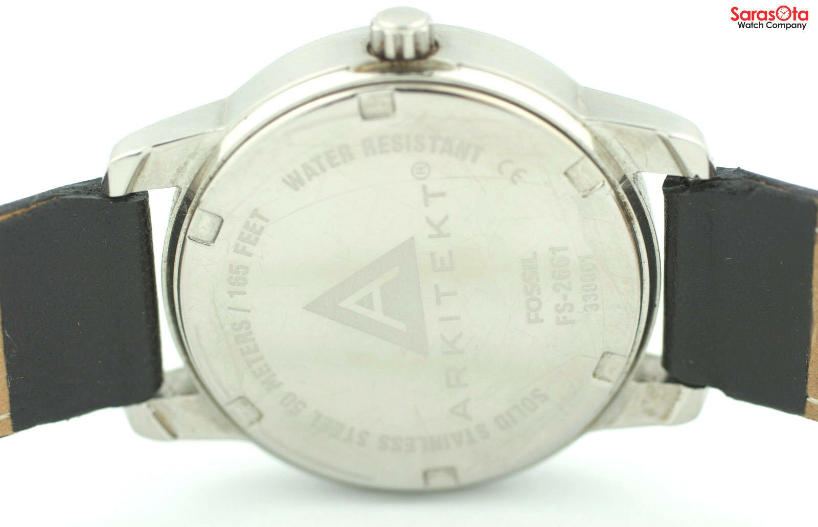 Fossil FS 2661 White Dial Stainless Steel Black Leather Quartz Womens Watch 121773030002 7