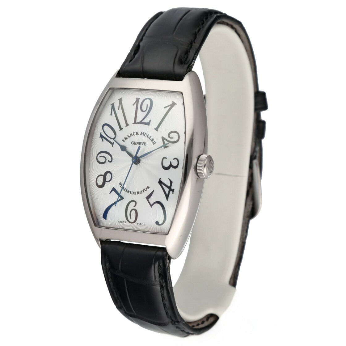 Franck Muller 6850 SC Cintree Curvex 18k White Gold Leather Automatic Mens Watch 124317748372 2