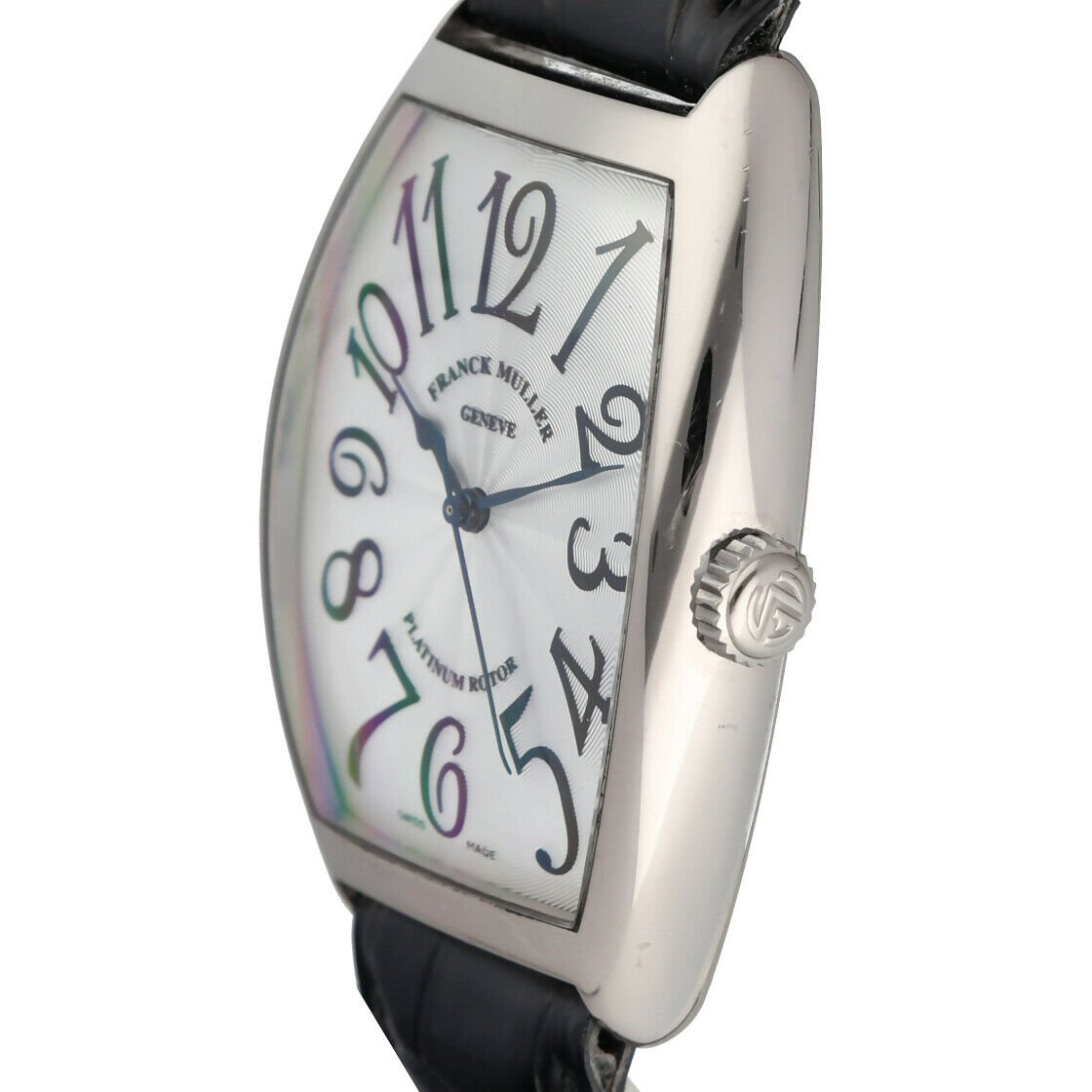 Franck Muller 6850 SC Cintree Curvex 18k White Gold Leather Automatic Mens Watch 124317748372 3