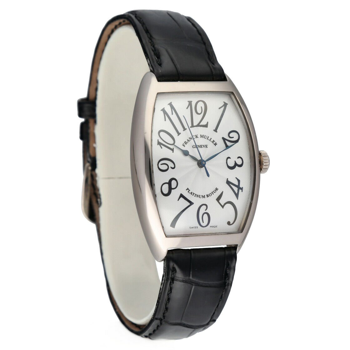 Franck Muller 6850 SC Cintree Curvex 18k White Gold Leather Automatic Mens Watch 124317748372 4