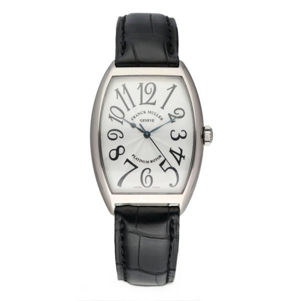 Franck Muller 6850 SC Cintree Curvex 18k White Gold Leather Automatic Mens Watch 124317748372