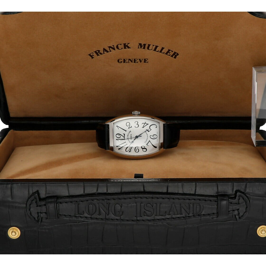 Franck Muller 6850 SC Cintree Curvex 18k White Gold Leather Automatic Mens Watch 124317748372 9