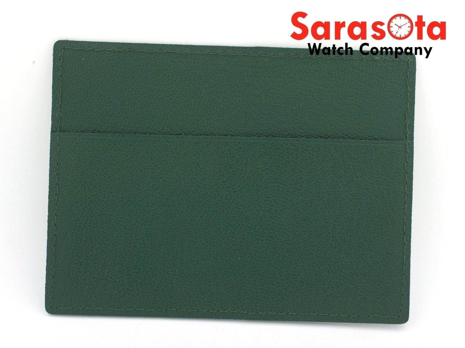 Genuine ROLEX 01014034 Green Leather Card Holder Calendar Instruction Booklet 113088716642 2