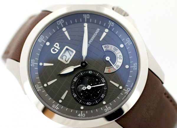 Girard Perregaux 49650 Traveller Large MoonPhases Leather Automatic Mens Watch 114155217402 4