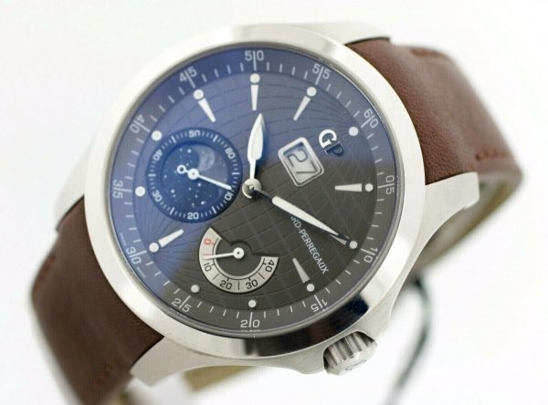 Girard Perregaux 49650 Traveller Large MoonPhases Leather Automatic Mens Watch 114155217402 5