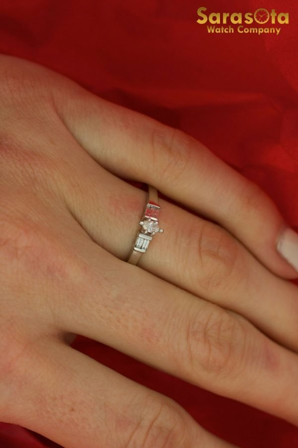 14K White Gold Approx 025 Ct Diamond Womens Ring Size 875 111826490623 4