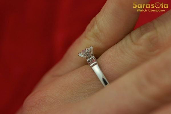 14K White Gold Approx 025 Ct Diamond Womens Ring Size 875 111826490623 7