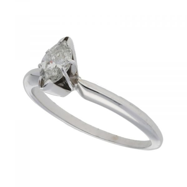 14k White Gold 035Ct Marquise Cut Single Stone Engagement Ring Size 55 124523952023 5