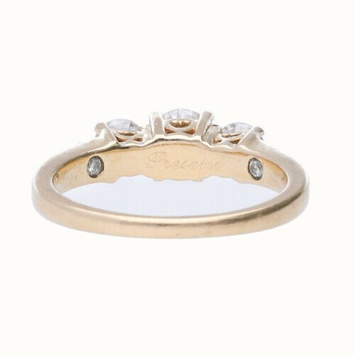 14k Yellow Gold 3 Stone Anniversary Womens Diamond Ring Size 7 133334091753 2