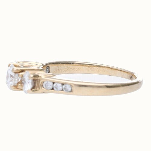 14k Yellow Gold 3 Stone Anniversary Womens Diamond Ring Size 7 133334091753 3
