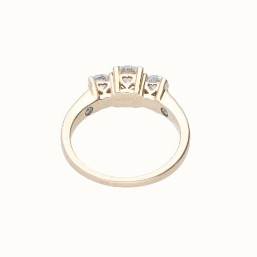 14k Yellow Gold 3 Stone Anniversary Womens Diamond Ring Size 7 133334091753 5