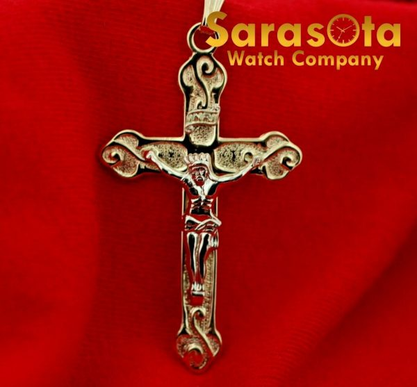 14k Yellow Gold Polish Religion Spirituality 2 Long Cross Pendant 123588340253 2