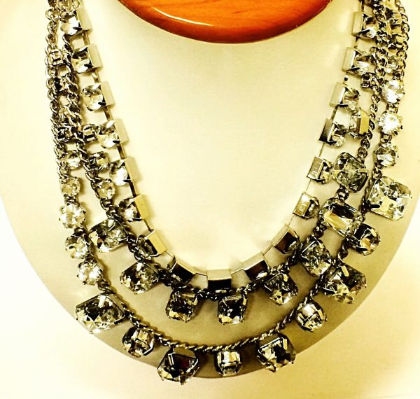 3 Layer 21 Womens Fashion Necklace Synthetic Stones 112043653633