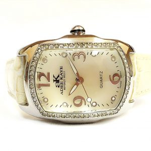 Adee Kaye AK85 1L Mother of Pearl Dial Crystal Bezel Leather Analog Womens Watch 112027759163