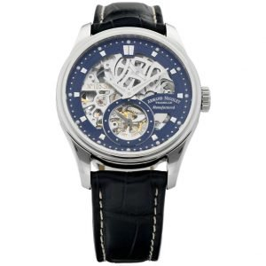 Armand Nicolet A622AAA BU P713BU2 Skeleton Blue Leather Manual Wind Mens Watch 124527974803