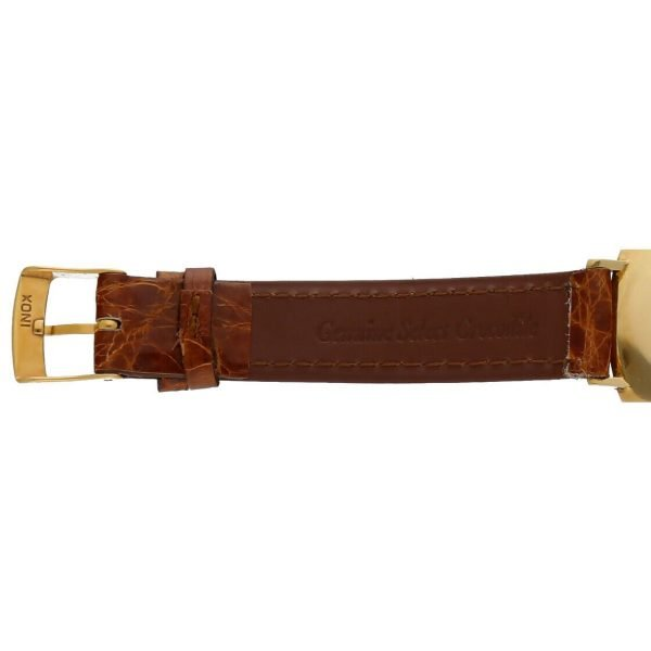 BaumeMercier Geneve 18K Yellow Gold Brown Leather Strap Dress Womens Watch 114155217403 7