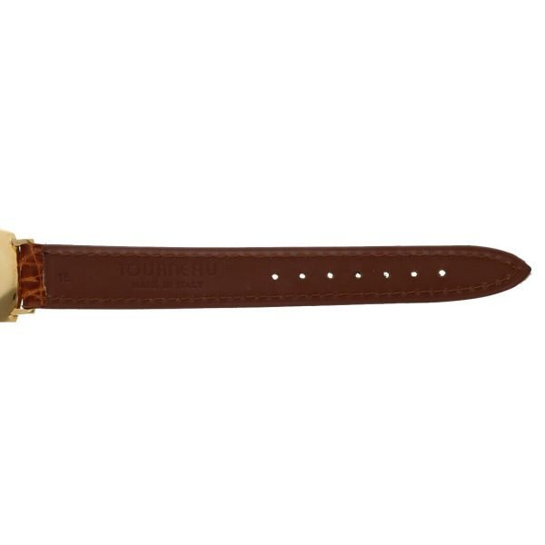 BaumeMercier Geneve 18K Yellow Gold Brown Leather Strap Dress Womens Watch 114155217403 9