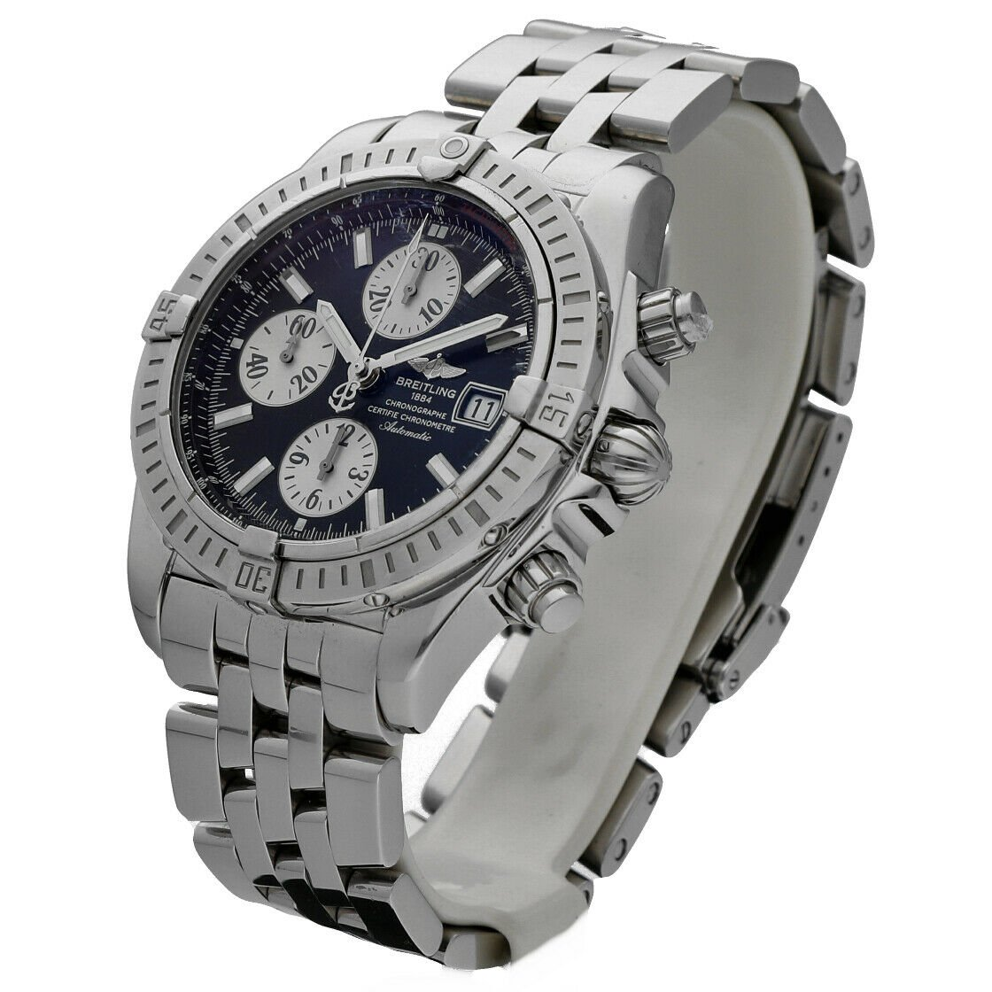 Breitling A13356 Chronomat Black Dial Chronograph Steel 44 Automatic Mens Watch 114241901873 2