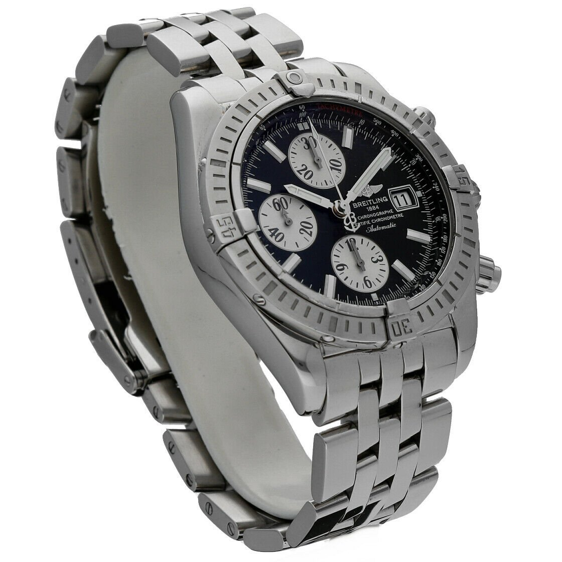 Breitling A13356 Chronomat Black Dial Chronograph Steel 44 Automatic Mens Watch 114241901873 3