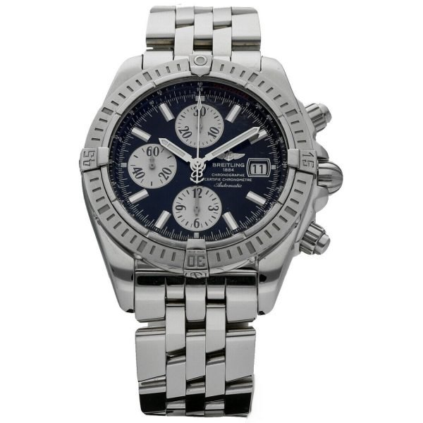 Breitling A13356 Chronomat Black Dial Chronograph Steel 44 Automatic Mens Watch 114241901873