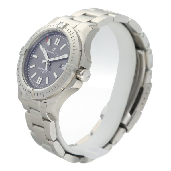 Breitling A17313 Colt Gray Dial Stainless Steel 41mm Automatic Mens Watch 133806007603 2
