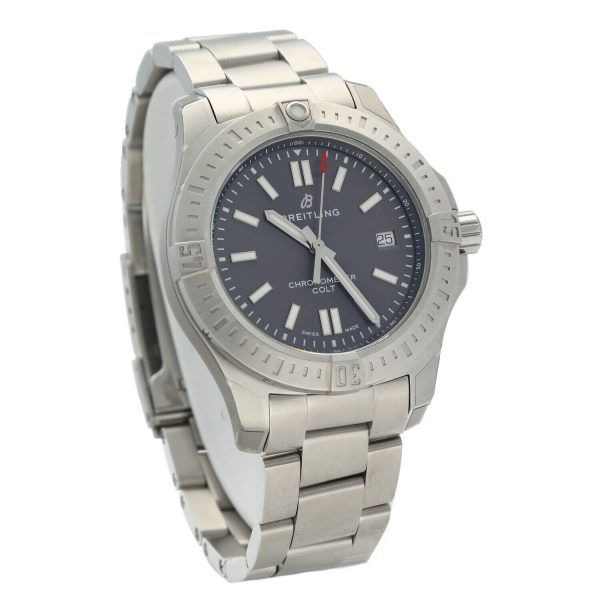Breitling A17313 Colt Gray Dial Stainless Steel 41mm Automatic Mens Watch 133806007603 3