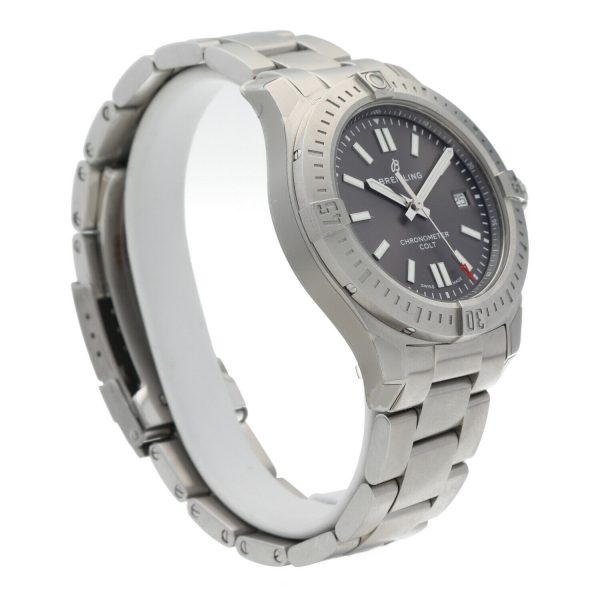 Breitling A17313 Colt Gray Dial Stainless Steel 41mm Automatic Mens Watch 133806007603 4
