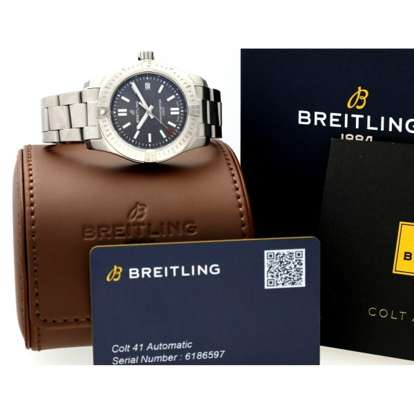 Breitling A17313 Colt Gray Dial Stainless Steel 41mm Automatic Mens Watch 133806007603 8