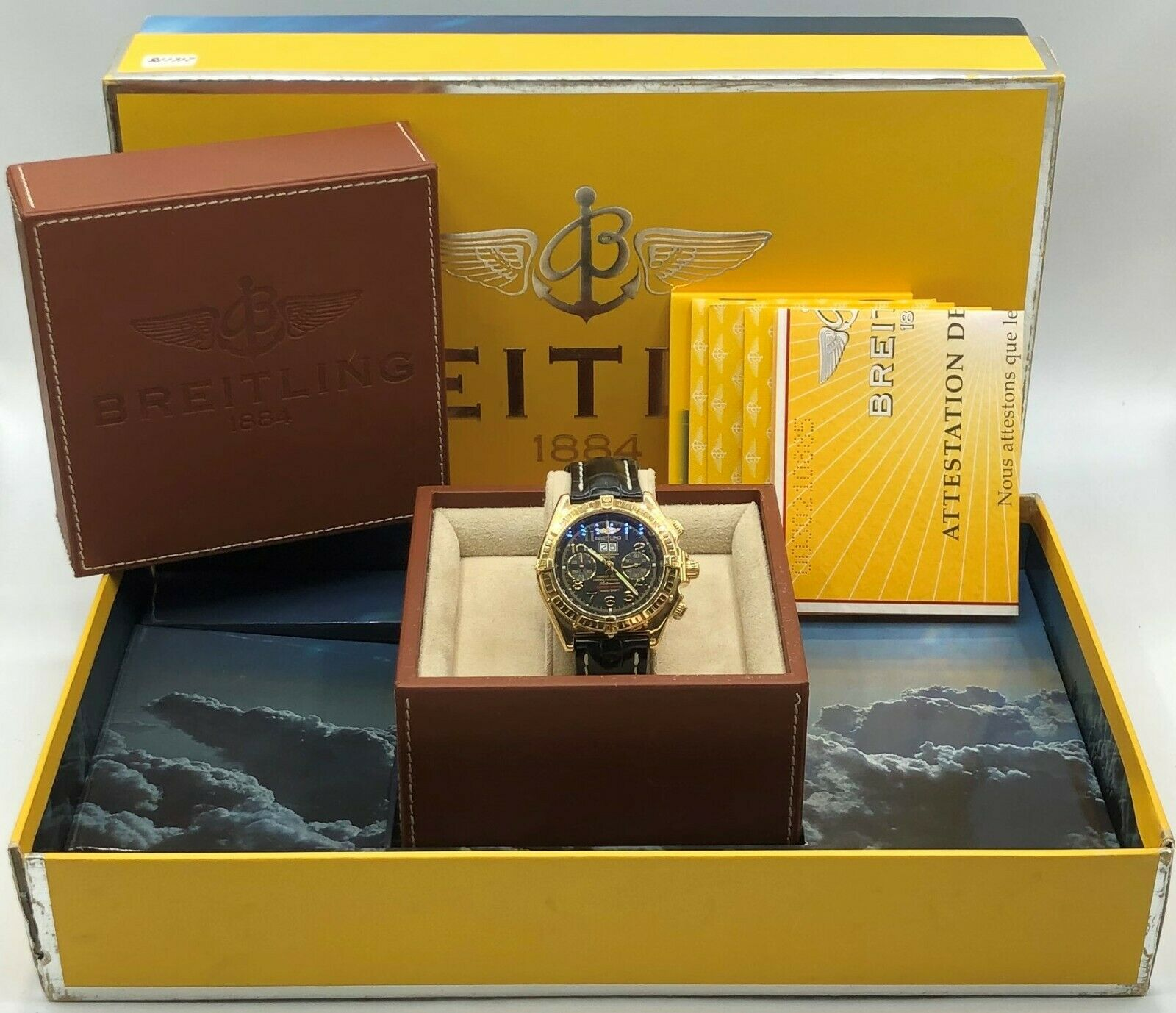 Breitling K44356 Crosswind 18k Yellow Gold Limited Edition Automatic Mens Watch 133527984163 10
