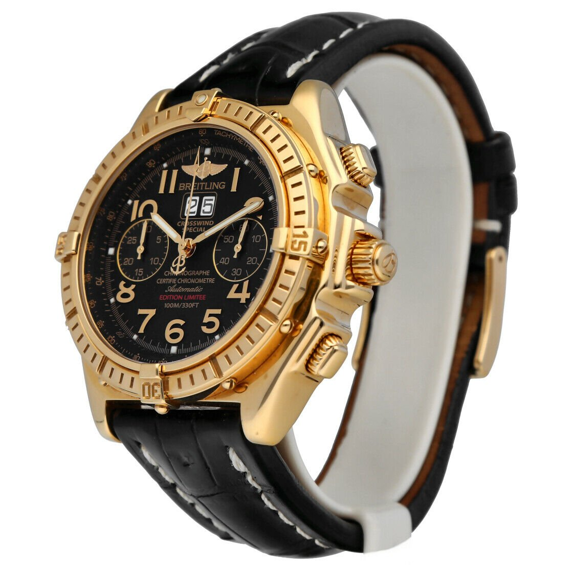 Breitling K44356 Crosswind 18k Yellow Gold Limited Edition Automatic Mens Watch 133527984163 2